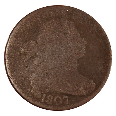 1807 1c Large Cent Flowing Hair
