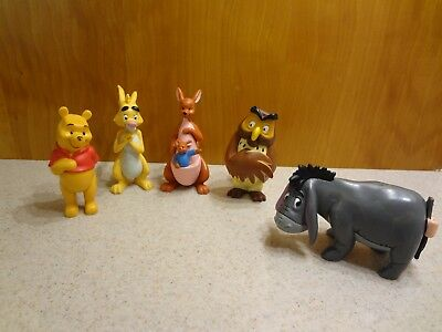 Vintage Disney Store Exclusive Winnie The Pooh Figures Collectible Lot
