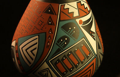 Mata Ortiz pottery | fine quality | signed | amazing details | Paquime olla vase