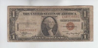 Hawaii  $1 1935-A World War II Emergency money one old note vg stains