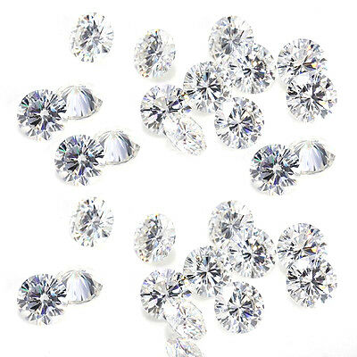 2.03ct VVS1-10pc/3.60-3.90mm G-H WHITE COLOR LOOSE ROUND MOISSANITE LOT 4 RING