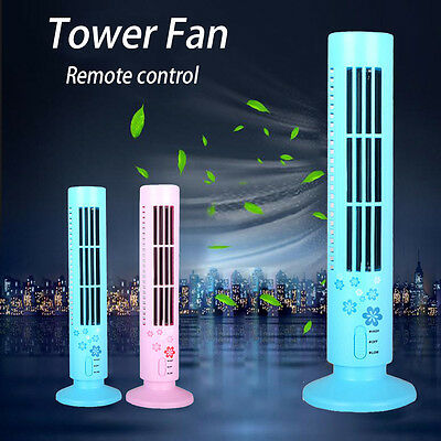 Portable Nature Tower Fan Remote Control Cross Flow Touch Panel Night Mode Sleep