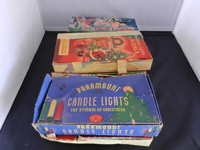Vintage  C-6 Series Xmas Tree Light Strings Original Boxes ONLY Various Cond
