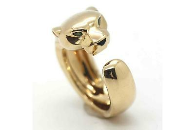 Auth Cartier  Panther Ring Pethere de Cartier 18K Yellow Gold US5.5  S