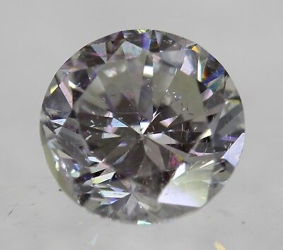 Certified 0.54 Carat G SI1 Round Brilliant Enhanced Natural Loose Diamond 5.14mm