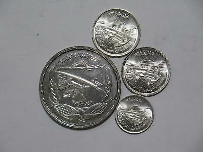 Egypt Pound Piastres Fao Aswan Dam Nile Silver Mixed World Coin Collection Lot