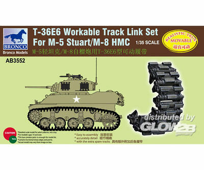 Bronco Models AB3552 T-36E6 Workable Track Set for M-5M-8 Stuart in 1:35