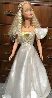 """Mattel 1976  My Life Size BARBIE Doll Blonde Blue Eyes 38"""" Tall ...extra Clothes"""