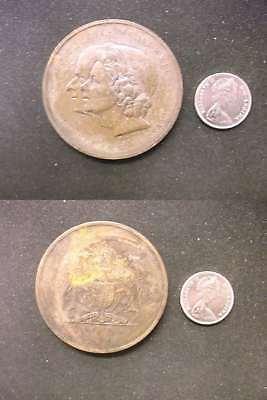 2586 Canada 1972 Confederaton Large Medal 5c in image is for size comparison
