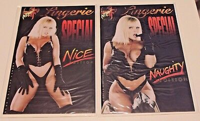 London Night Studios LINGERIE SPECIAL NAUGHTY & NICE EDs Photograph Pin-Up Cover