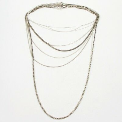 Sterling Silver - Lot of 10 Rope Link Chain Necklaces NOT SCRAP - 59g