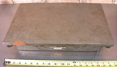 """THE CHALLENGE MACHINERY CO, GRAND HAVEN, MICH, 12"""" x 18"""" CAST IRON SURFACE PLATE"""