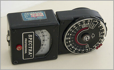Spectral Professional P-251 Exposure Meters in case with Accessories