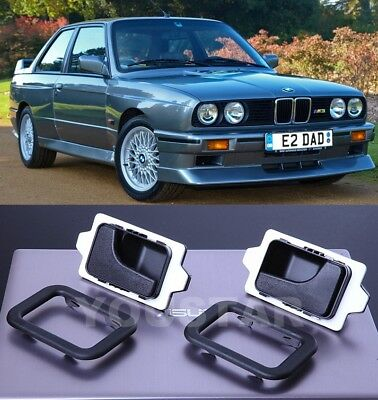 AU STOCK Set RIGHT & LEFT Interior Door Handles & Trims for BMW E30 E28 E24 E23