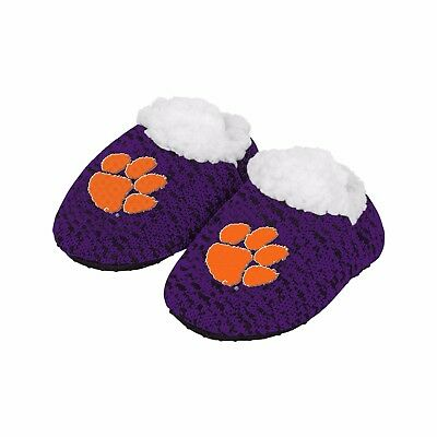 Clemson Tigers POLY KNIT Infant Newborn Baby Booties Slippers New Shower Gift