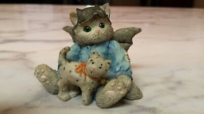 CALICO KITTENS HALLOWEEN No Masking Our Friendship Cats Pumpkin Holiday 1994