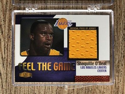 Shaquille O'Neal 1999-00 Fleer Flair Showcase Feel the Game Worn Uniform Jersey