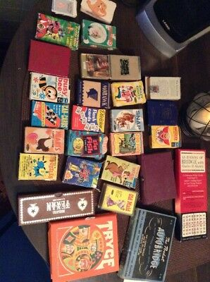Big VINTAGE Playing Card Lot ED-U-CARDS GAME Poker Tryce  Pinochle