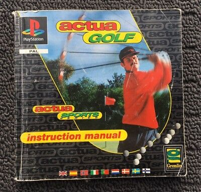 ACTUA GOLF Retro Playstation 1 PS1 Game Manual Instruction Booklet (PAL AUS)