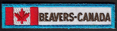 Boy Scouts Canada Extinct Beavers Canada Flag Strip Badge Scout National