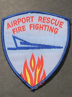 Airport Rescue & Fire Fighting Obsolete Embroidered Patch