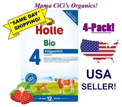 ***FREE EXPEDITED SHIPPING!*** 4 BOXES Stage 4 Holle Organic Baby Infant Formula
