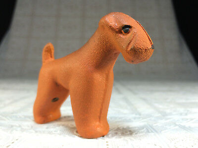 1970s Rubber dog toy Airedale Terry Triangle USSR russian vintage soviet