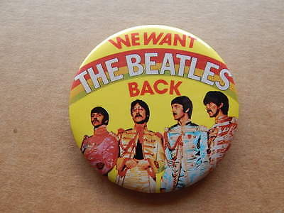 Vintage We Want The Beatles Back Celluloid Pinback Button-Rock Memorabilia-RARE!