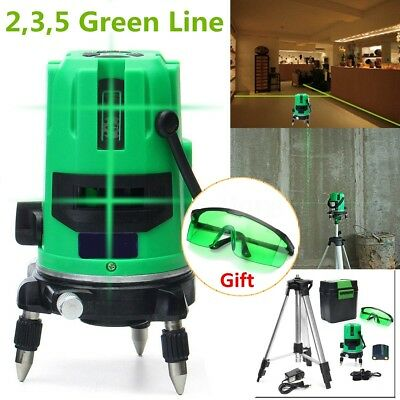 AU 2/3/5 Green Line Auto Self-leveling Laser Level 360° Rotary Outdoor + Tripod