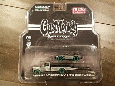 Greenlight 51138 Gas Monkey Garage 1970 Ford F-350 1965 Shelby Cobra 1/64 Chase
