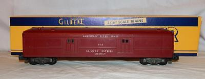 American Flyer 918 US Mail Car clean maroon-tuscan 2 chipped corners painted vrs