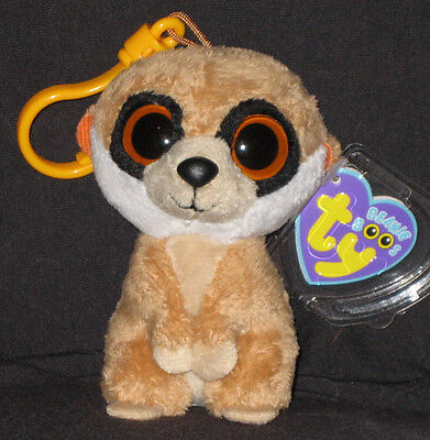 f1a8f84905c TY BEANIE BOOS - REBEL THE MEERKAT KEY CLIP - MINT with MINT TAG ...