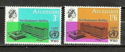 Ascension Is. Sc#102-3 MNH New WHO Headquarters Building