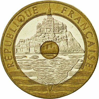 France 20 francs 1992 mont st michel 94u by coinmountain for Au jardin st michel pontorson france