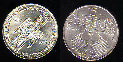 "1952 - 5 DM Gedenkmünze ""Germanisches Museum"", vz-st"