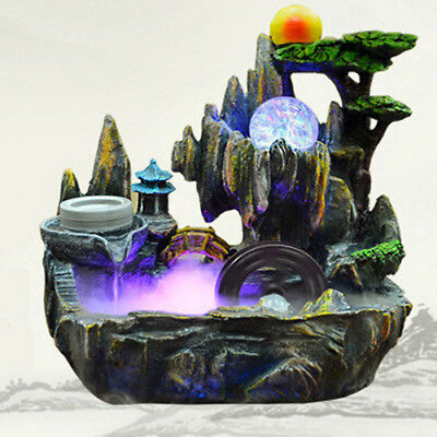 Magical Mystic Fountain Water Feature with smoke