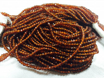 Hessonite Garnet Faceted Rondelle Beads 3mm Beads 14 Inch Strand 61