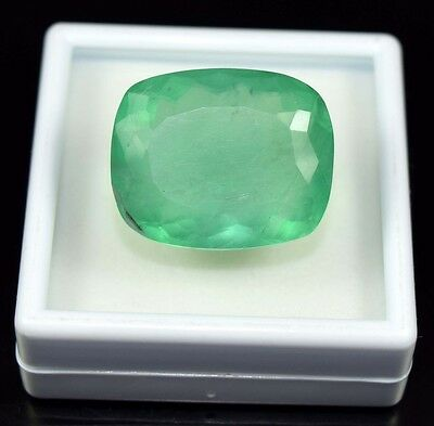 Extra Ordinary  76.80 Cts. 100 % Natural Fluorite Cushion Cut For Silver Pendant