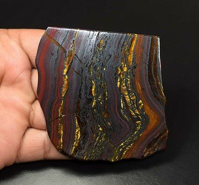 460.20 Cts. 100% Natural Multi Iron Tiger Slice For Making Cabochons