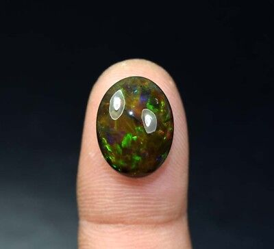 6.45 Cts. 100 % Natural Multi Fire Ethiopian Black Opal Oval Cab Loose Gemstones