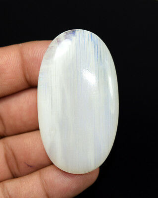 Stunning  130.70  Ct. 100% Natural Rainbow Moonstone  57 * 32  Gemstone