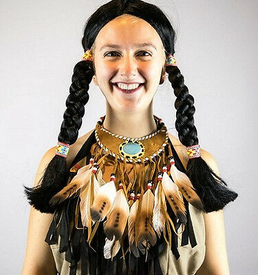 Ethnic American Native feathered Necklace Indian Hippy....cheap!!!!!!!