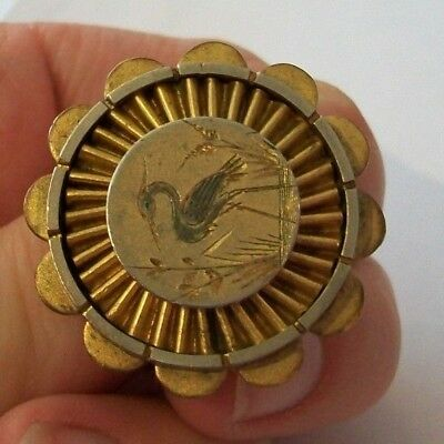 Antique Victorian Gilt Metal Aesthetic Brooch