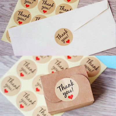 "60-120pcs Cute Envelope Seals Paper Stickers ""Thank You"" Wedding Favor Label DIY"