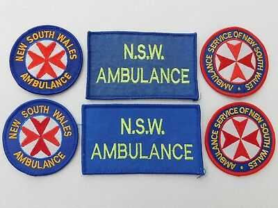 New South Wales Ambulance Service patches (6) (used) obsolete