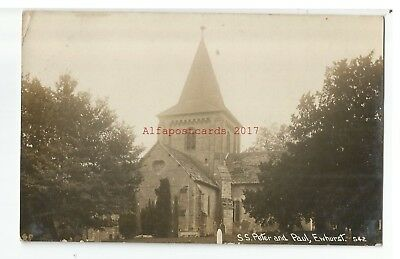 Surrey Ewhurst SS Peter & Paul Church Real Photo Vintage Postcard 20.10