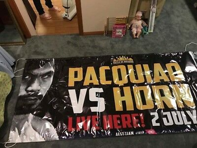 Manny pacquio vs Jeff horn promotional banner
