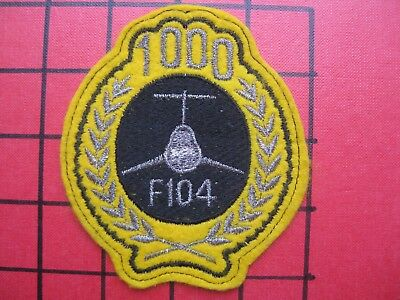 ORIGINAL AIR FORCE SQUADRON PATCH USAF GERMANY ITALY F-104 STARFIGHTER 1000 Hrs