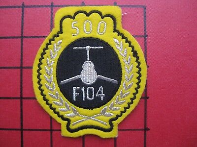 ORIGINAL AIR FORCE SQUADRON PATCH USAF GERMANY ITALY F-104 STARFIGHTER 500 Hrs