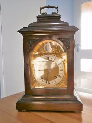 W&H 4 Glass Mahogany Bracket Clock